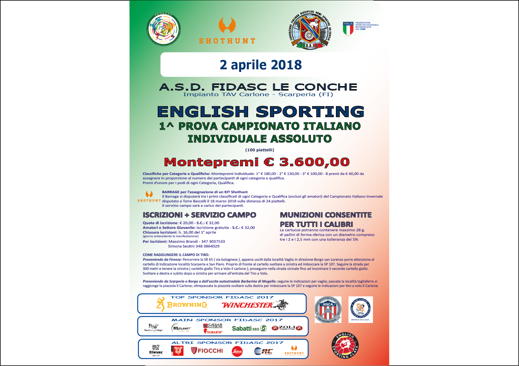 English Sporting - 1^ Prova Campionato Italiano Assoluto