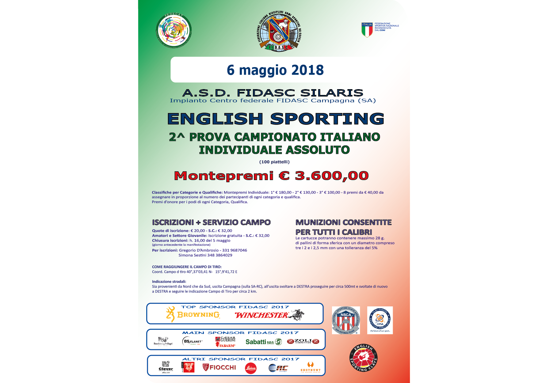 English Sporting - 2^ Prova Campionato Italiano Individuale Assoluto